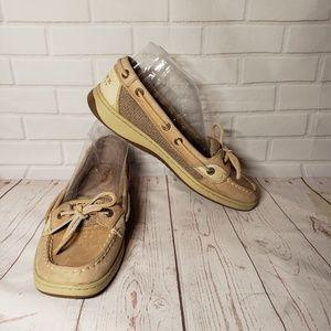 Sperry Angelfish Loafer Boat shoe 8 Oat Tan